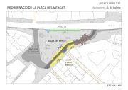Geänderte Verkehrsführung am Plaza del Mercat in Palma de Mallorca