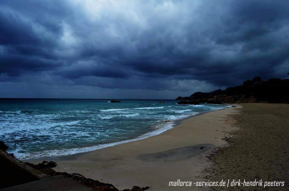 Unwetter über Mallorca
