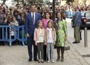 Spaniens Royals besuchen Ostermesse auf Mallorca