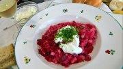 Eintopf mit Kassler, Sauerkraut und Rote Bete