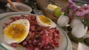 Rote-Bete-Salat mit Gänseei