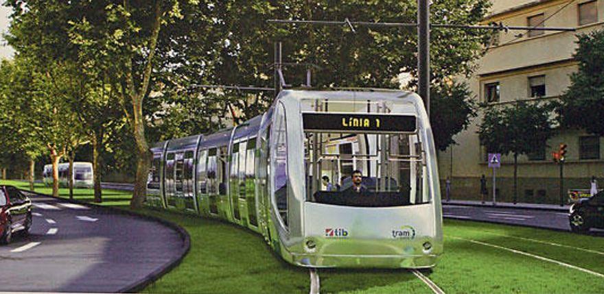 Geplante Strassenbahn in Palma