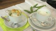 Erbsen-Cappuccino