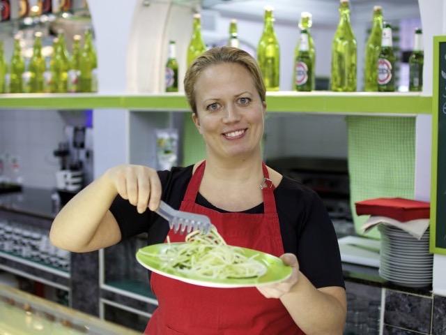 Die Gemüse-Spaghetti sind nicht nur gut für die Figur, sondern auch richtig lecker.