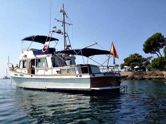 Mallorca Boot fahren mit einer Grand Banks