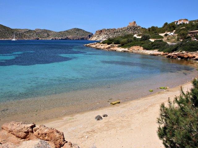 Strand auf der Insel Cabrera