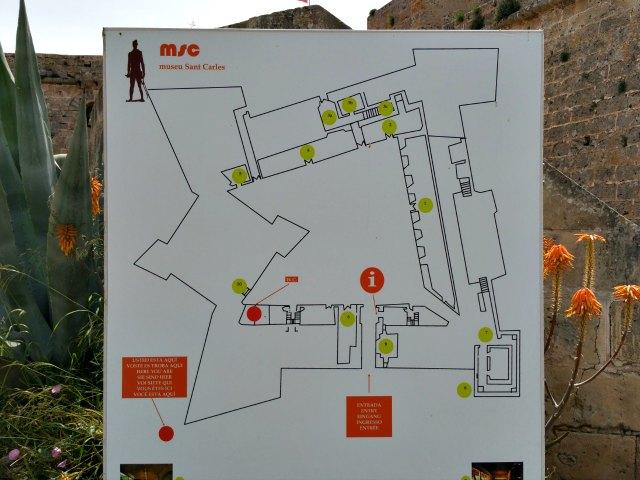 Plan vom Castillo de San Carlos in Palma