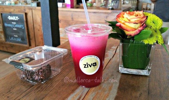 Vegan Essen und Trinken im Ziva in Santa Catalina