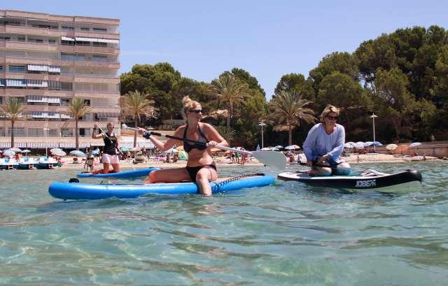 Stand Up Paddling auf Mallorca auch mal ne Pause machen.