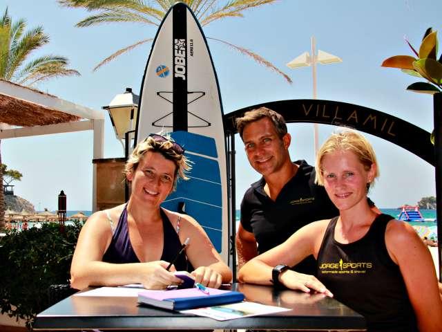 Interview über Stand Up Padeln auf Mallorca