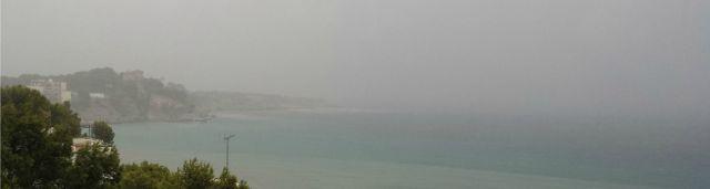 Regen Bucht von Palma Mallorca