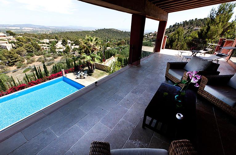 Der unglaubliche Ausblick von der Villa Vegana auf Mallorca