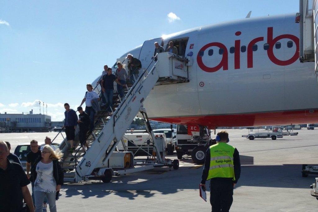 Flugzeug-aussteigen-Palma