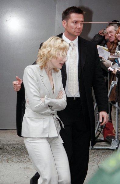 Frank Schrader Bodyguard mit Cate Blanchett