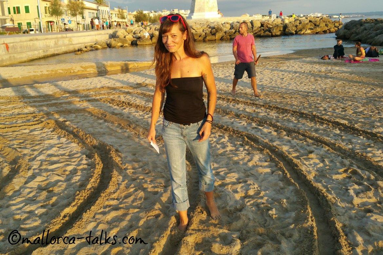 Labyrinth Walk organisiert von Sylvia von Mindful Mallorca