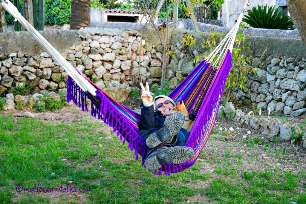 Hängematte chillen Lazy Finca Mallorca
