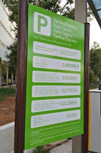 Preise für Parken am Flughafen Palma