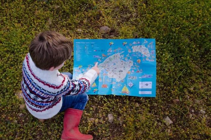 Mallorca mit Kindern Ausflugstipps auf einer Karte