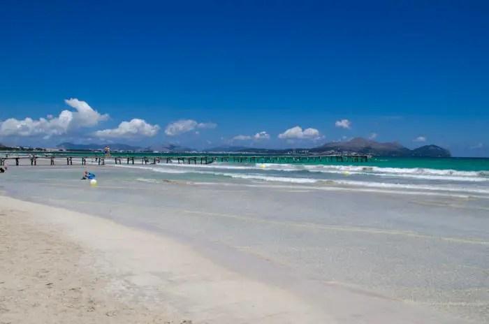 Familienstrand auf Mallorca. Playa de Muro