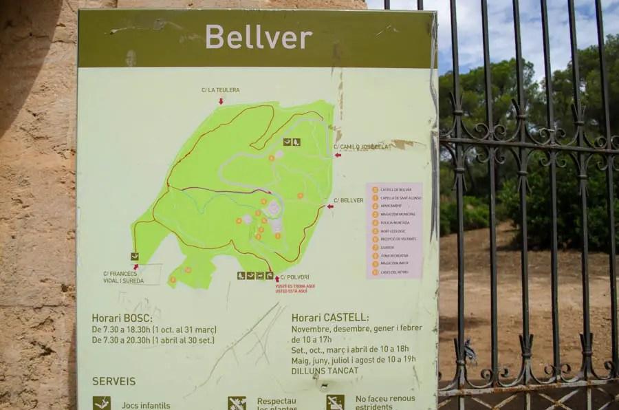 Spielplatz im Wald von Bellver