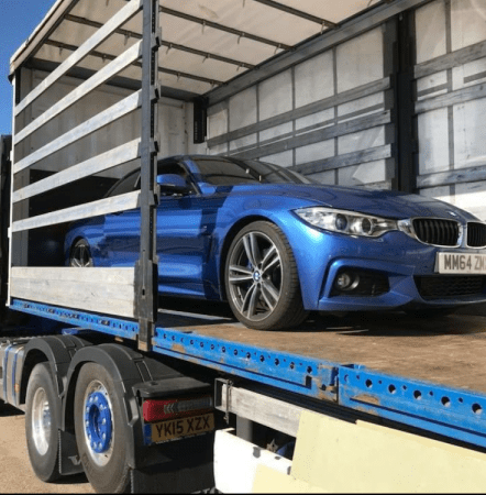 BMW on Lorry