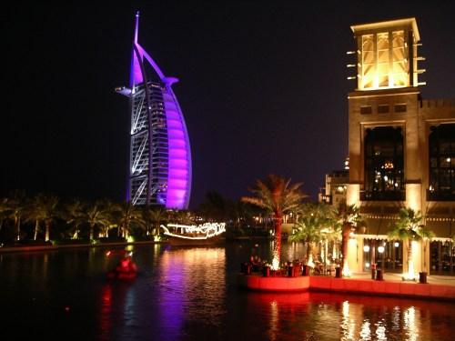 Madinat and Burj al Arab at Night - May 2007 - at Tolfalas.com