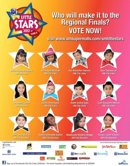 SM Little Stars Cebu Regional Finals Vote
