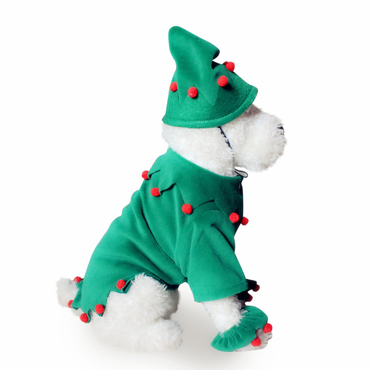 Christmas Elf Dog Costume XT12356