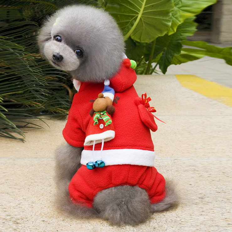 Santa Dog Outfit & Christmas Costumes XT12354
