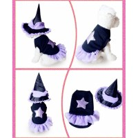 Pet Dog Witch Costume Dressing Up Party N12401