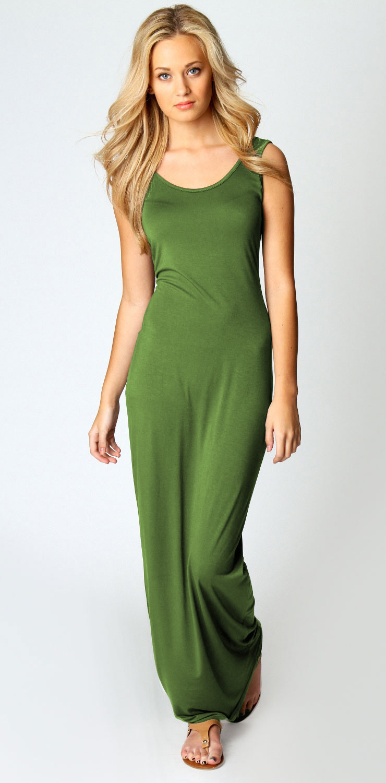 Sleeveless Tank Top Floor-Length Dress N9019