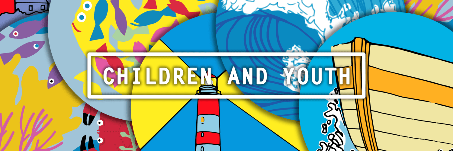 "Banner image showing a lighthouse and bearing the words ""Children and Youth"""