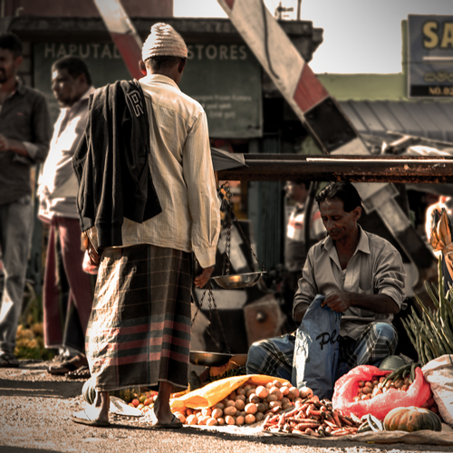 Selling Fruits on the Street