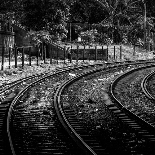 Rail tracks in Colombo
