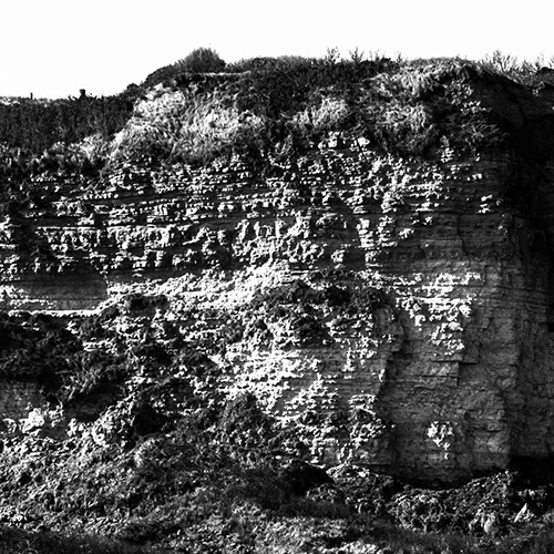 The Omaha Beach Cliff - Detail 2