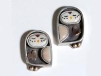 Owl Earrings Owl Stud Earrings Rhinestone Gold - TrendEarrings