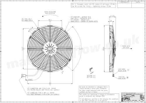 small resolution of dimensions of spal 14 350mm cooling fan va08 ap10 c