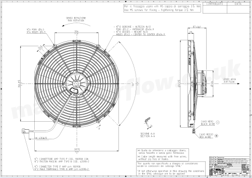small resolution of 30102120a spal 16 407mm cooling fan va18 ap70 ll 86a 12v 1918 wiring diagram for spal 30102120