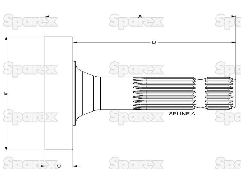 S.260165 Transmission PTO Output Shaft for Massey Ferguson