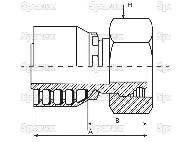 S.3423612 Parker Metric Hose Insert 3/4'' x M36 x 2 Female