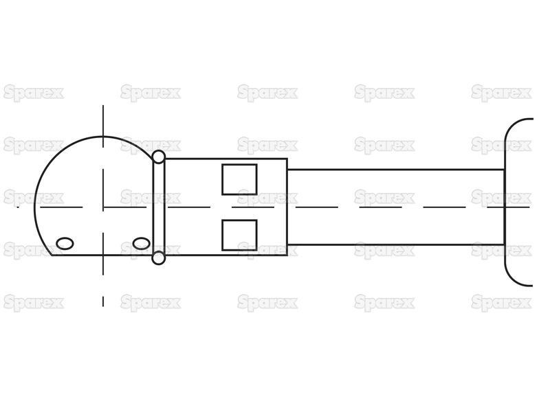 S.52925 Gas Strut, Total length: 200mm for Case IH, Ford