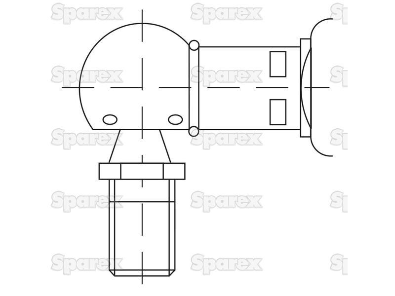 S.54529 Gas Strut, Total length: 230mm for Massey Ferguson