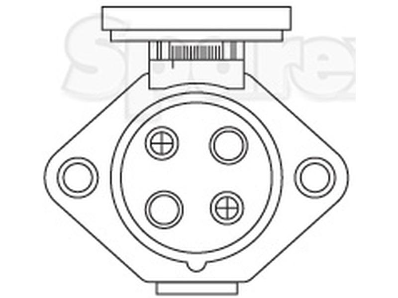 S.56469 4-Pin Auxiliary Female Socket (Plastic) for Case