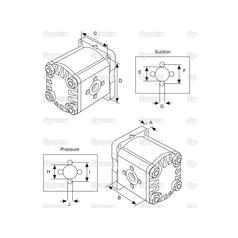 S.67465 Single Hydraulic Pump for Bolens, Iseki
