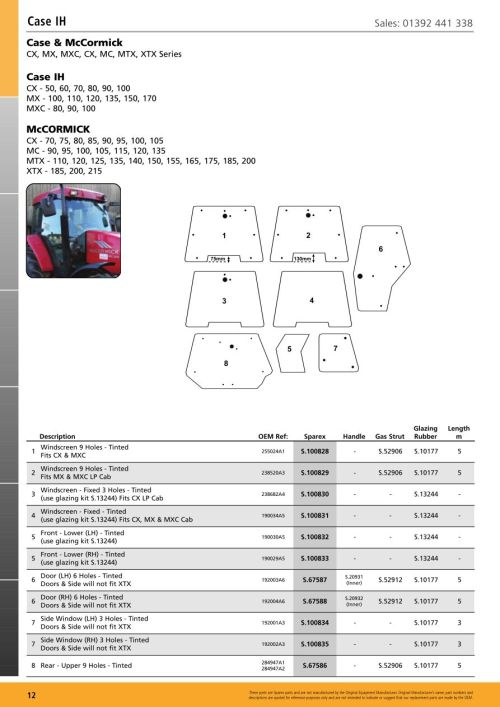 small resolution of parts lists cab glass case ih page 14