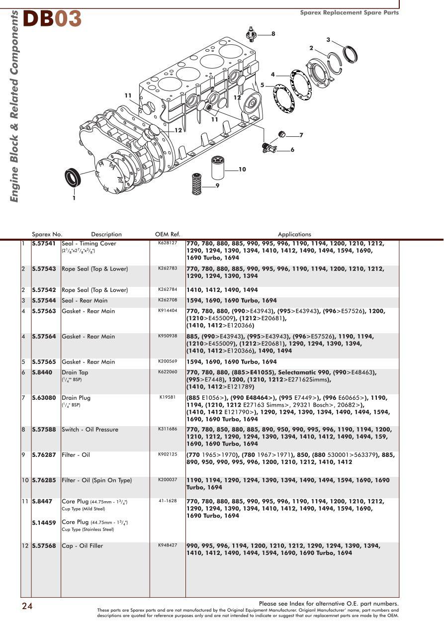 medium resolution of parts lists david brown engine page 26