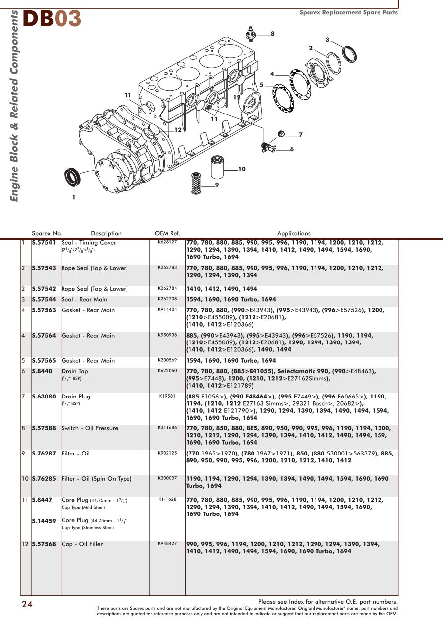 hight resolution of parts lists david brown engine page 26