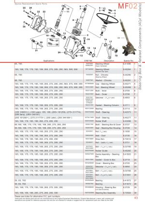 Massey Ferguson Front Axle (Page 53) | Sparex Parts Lists & Diagrams | Malpasonlinecouk