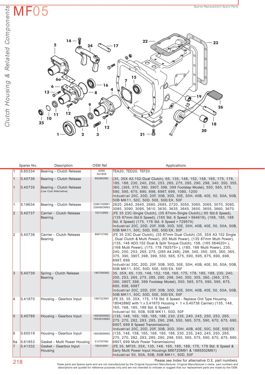hight resolution of massey ferguson transmission pto page 228 sparex parts lists rh malpasonline co uk
