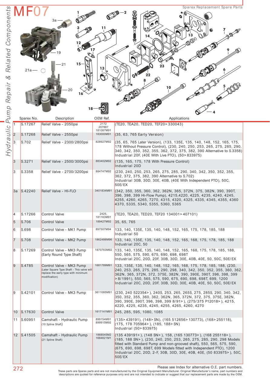 hight resolution of parts lists massey ferguson hydraulic pumps page 282